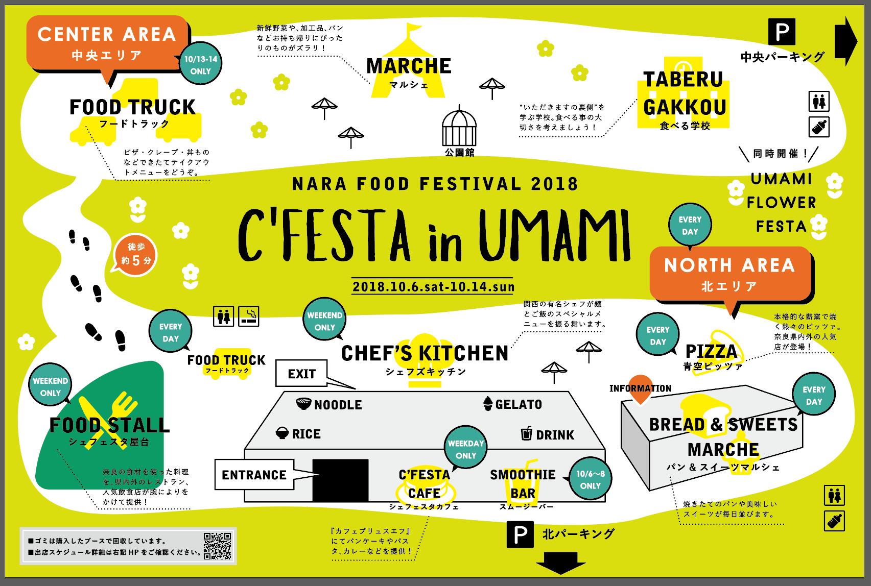 c festa in umami 馬見 出店店舗一覧 奈良のフードフェスティバル